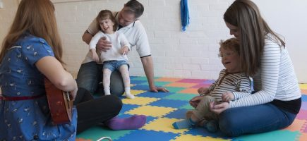 AMY WINEHOUSE'S MUSICAL LEGACY ENABLES CHILDREN TO FIND A 'NEW VOICE'    Children at The London Centre for Children with Cerebral Palsy are all set to make sweet music this year thanks to a £7,450 grant from the Amy Winehouse Foundation for music therapy sessions.  Amy's parents, Mitch Winehouse and Janis Winehouse-Collins, came with other Trustees from the Foundation to the Centre on Wednesday 20 April to present their grant cheque. Mitch and Janis also brought a new keyboard and stand as a personal gift to the children.