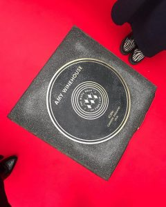 A photo of Amy Winehouse's stone on The Music Walk of Fame, Camden, London UK.